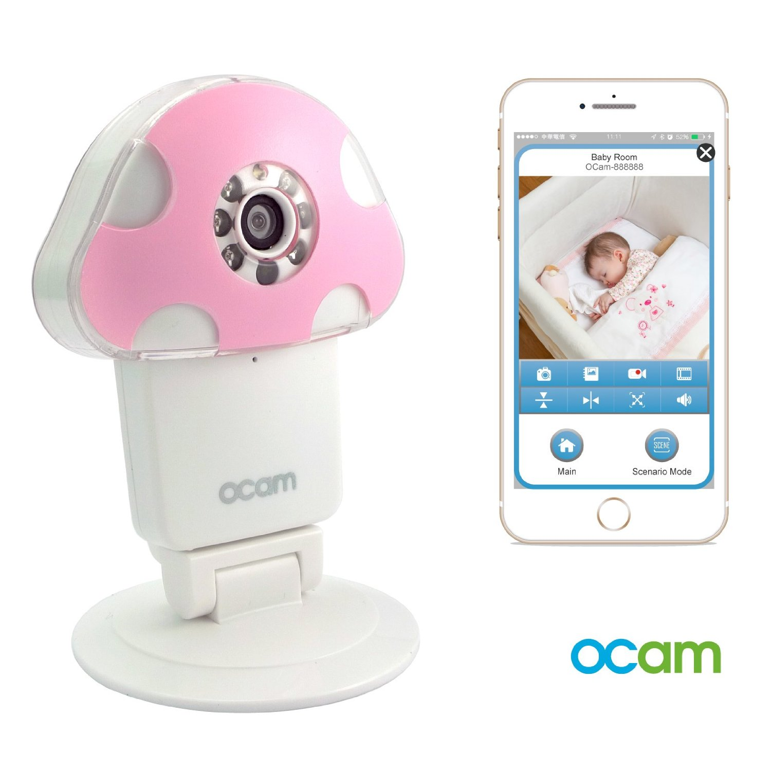 OCam M1 WiFi Wireless Baby Monitor Security Video Camera